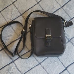 Small black crossbody Coach purse